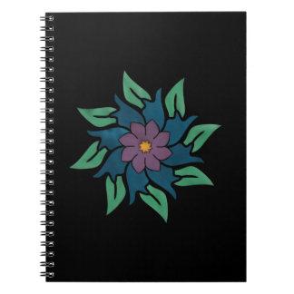 Acht Punkt-Blumen-Zeitschrift Spiral Notizblock