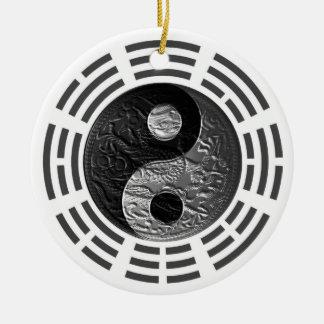 Acht Trigrams Yin Yang Prägen Ähnlicher Drache Keramik Ornament