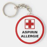 Achtung - Aspirin Allergie Standard Runder Schlüsselanhänger