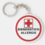 Achtung - Bienenstich Allergie Standard Runder Schlüsselanhänger