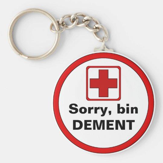 Achtung – Demenz Schlüsselanhänger
