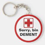 Achtung – Demenz Standard Runder Schlüsselanhänger