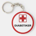 Achtung – DIABETIKER Standard Runder Schlüsselanhänger