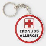 Achtung - ERDNUSS Allergie Standard Runder Schlüsselanhänger