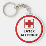 Achtung - Latex Allergie Standard Runder Schlüsselanhänger
