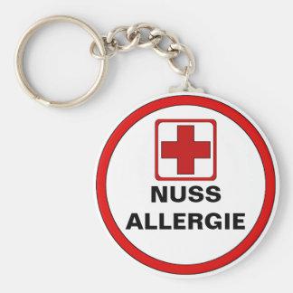 Achtung - NUSS Allergie Schlüsselanhänger