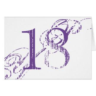 Achtzehn ist ein großes Abkommen, großer lila Text Karte