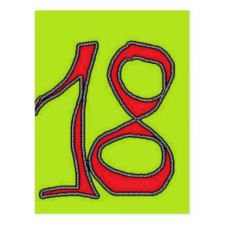 achtzehn postkarte