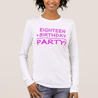 Achtzehnte Geburtstage: Achtzehn + Geburtstag = Langarm T-Shirt