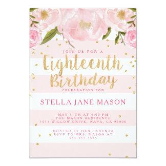 Achtzehnte Geburtstags-Party Einladung