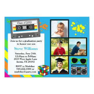 Achtzigerjahre Abschluss-Party Einladungs-Klasse 12,7 X 17,8 Cm Einladungskarte