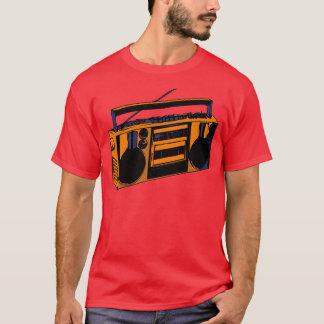 Achtzigerjahre alte SchuleRetro Boombox RadioT - T-Shirt
