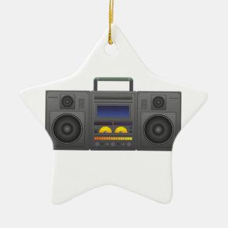 Achtzigerjahre angesagte Hopfenart Boombox Keramik Stern-Ornament