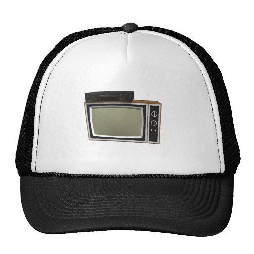 Achtzigerjahre Art Fernsehen und VCR: Modell 3D Baseball Kappe