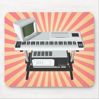 Achtzigerjahre Art-Probenehmer-Tastatur: Modell Mauspads