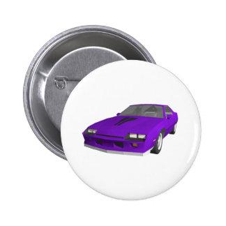 Achtzigerjahre Camaro Sport-Auto Modell 3D Anstecknadelbutton