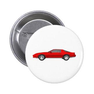 Achtzigerjahre Camaro Sport-Auto Modell 3D Button