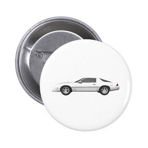 Achtzigerjahre Camaro Sport-Auto: Modell 3D: Anstecknadelbutton