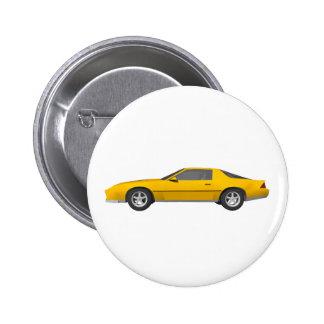 Achtzigerjahre Camaro Sport-Auto Modell 3D Buttons