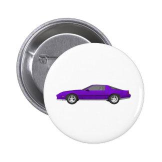 Achtzigerjahre Camaro Sport-Auto: Modell 3D: Runder Button 5,1 Cm
