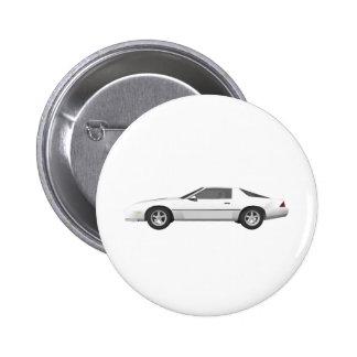 Achtzigerjahre Camaro Sport-Auto: Modell 3D: Runder Button 5,7 Cm