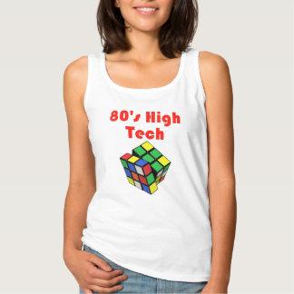 Achtzigerjahre das Hightech- Trägershirt Frauen Basic Tank-Top
