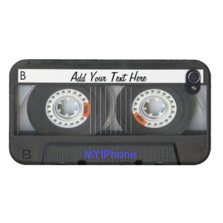 Achtzigerjahre Kassetten-Art iPhone Fall iPhone 4/4S Cover