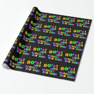 Achtzigerjahre mögen total krassen Typ Neon Geschenkpapier