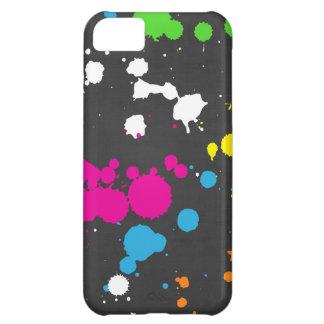 Achtzigerjahre Neonfarben-Spritzer Hülle Für iPhone 5C