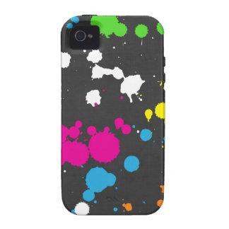 Achtzigerjahre Neonfarben-Spritzer iPhone 4/4S Hüllen