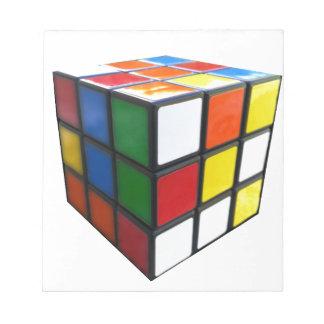 Achtzigerjahre Puzzlespiel-Würfel Notizblock