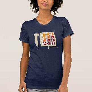 Achtzigerjahre Retro großes Knopf-Telefon T-Shirt