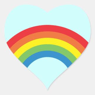 Achtzigerjahre Retro Regenbogen-Herz-Aufkleber Herz Sticker