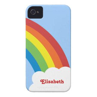 Achtzigerjahre Retro Regenbogen personalisierter iPhone 4 Case-Mate Hülle