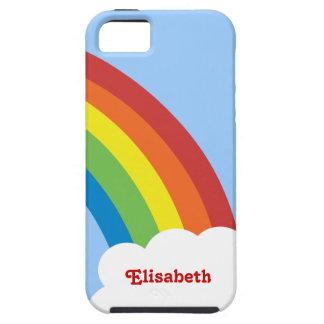 Achtzigerjahre Retro Regenbogen personalisierter iPhone 5 Schutzhüllen