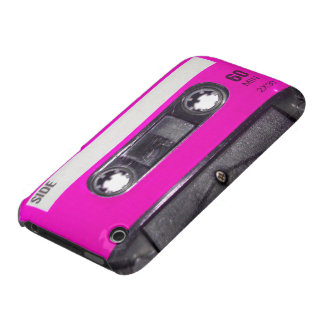 Achtzigerjahre Rosa-Aufkleber-Kassette iPhone 3 Covers