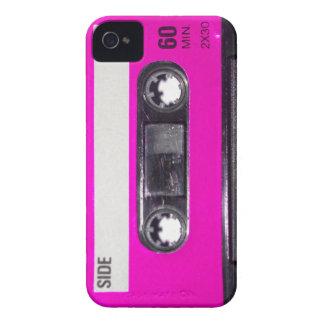 Achtzigerjahre Rosa-Aufkleber-Kassette iPhone 4 Case-Mate Hülle