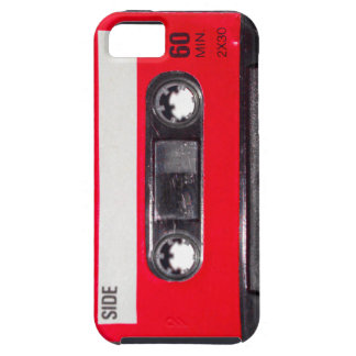 Achtzigerjahre rote Aufkleber-Kassette iPhone 5 Schutzhüllen