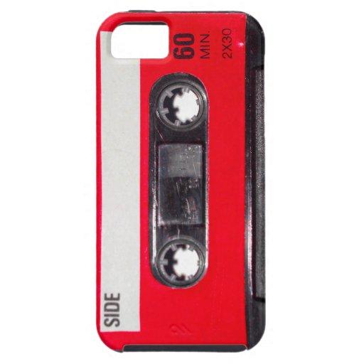 Achtzigerjahre rote Aufkleber-Kassette iPhone 5 Schutzhülle
