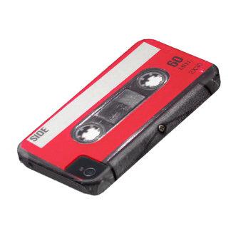 Achtzigerjahre rote Aufkleber-Kassette Case-Mate iPhone 4 Hüllen
