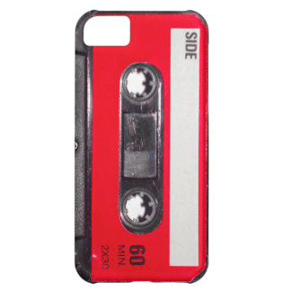 Achtzigerjahre rote Aufkleber-Kassette iPhone 5C Schale