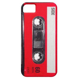 Achtzigerjahre rote Aufkleber-Kassette iPhone 5 Hüllen