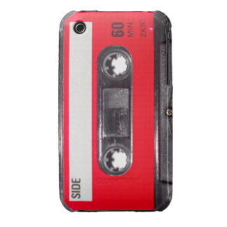 Achtzigerjahre rote Aufkleber-Kassette iPhone 3 Covers