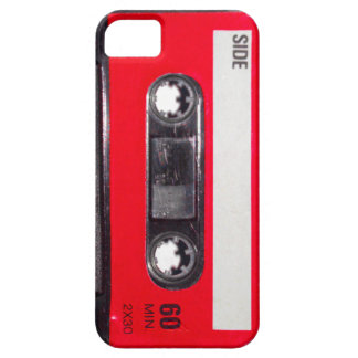 Achtzigerjahre rote Aufkleber-Kassette iPhone 5 Cover