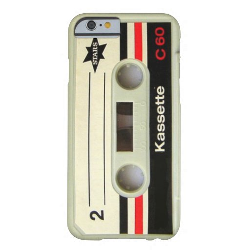Achtzigerjahre Vintager geeky Retro Kassette Barely There iPhone 6 Hülle