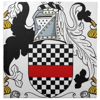 Ackland Familien-Wappen u. Familienwappen Stoffserviette