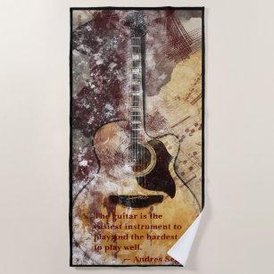 Acoustic Guitar Beach Handtuch