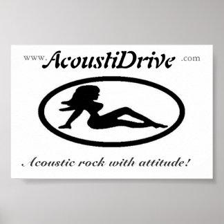 AcoustiDrive Band-Logoplakat Plakatdruck