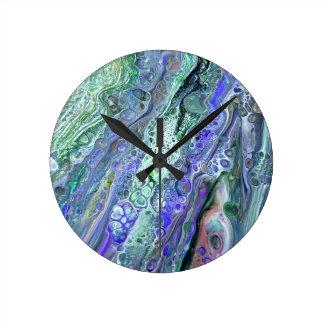 """""""Acryl gießen"""" abstrakte Uhr der Kunst-#2"""
