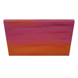 Acrylmalerei: Rosa und orange Sonnenuntergang Leinwanddruck